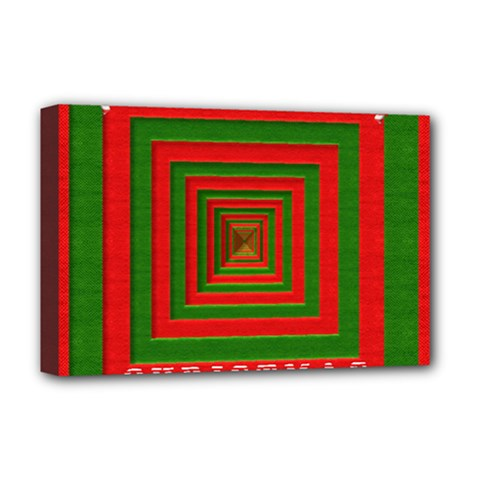 Fabric 3d Merry Christmas Deluxe Canvas 18  X 12   by Nexatart