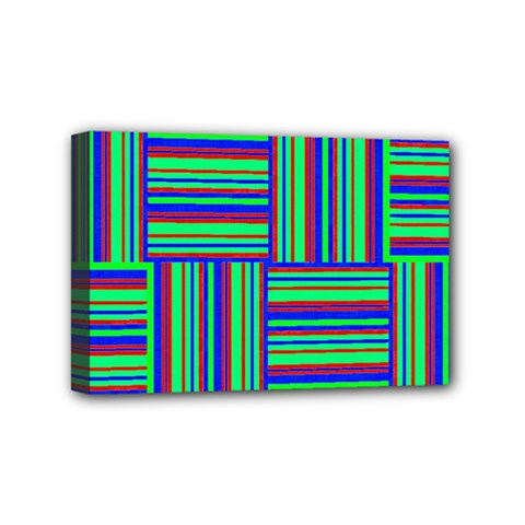 Fabric Pattern Design Cloth Stripe Mini Canvas 6  X 4  by Nexatart