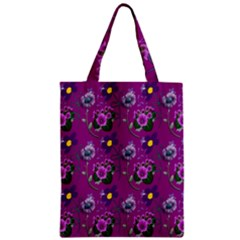 Flower Pattern Zipper Classic Tote Bag by Nexatart