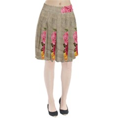 Flower Floral Bouquet Background Pleated Skirt by Nexatart