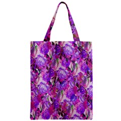 Flowers Abstract Digital Art Zipper Classic Tote Bag by Nexatart
