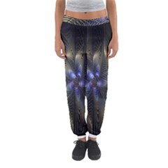 Fractal Blue Abstract Fractal Art Women s Jogger Sweatpants by Nexatart