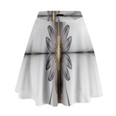 Fractal Fleur Elegance Flower High Waist Skirt by Nexatart