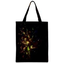 Fractal Flame Light Energy Zipper Classic Tote Bag by Nexatart