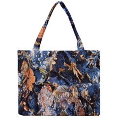 Frost Leaves Winter Park Morning Mini Tote Bag by Nexatart