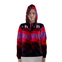 Glass Ball Decorated Beautiful Red Hooded Wind Breaker (Women) by Nexatart
