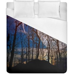 Full Moon Forest Night Darkness Duvet Cover (california King Size) by Nexatart