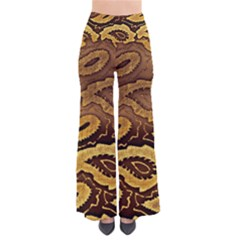 Golden Patterned Paper Pants by Nexatart