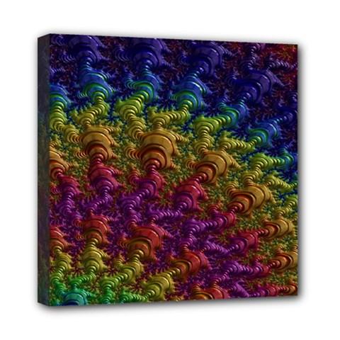 Fractal Art Design Colorful Mini Canvas 8  x 8  by Nexatart
