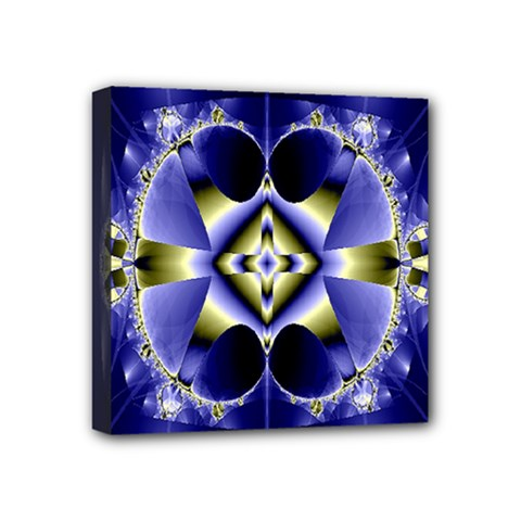 Fractal Fantasy Blue Beauty Mini Canvas 4  X 4  by Nexatart