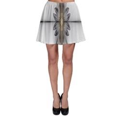 Fractal Fleur Elegance Flower Skater Skirt by Nexatart