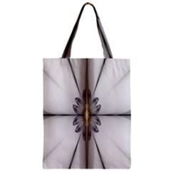 Fractal Fleur Elegance Flower Zipper Classic Tote Bag by Nexatart
