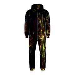 Fractal Flame Light Energy Hooded Jumpsuit (Kids) by Nexatart