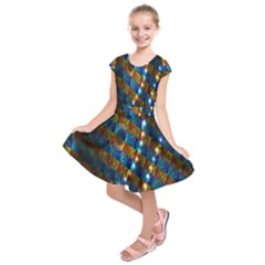 Fractal Digital Art Kids  Short Sleeve Dress