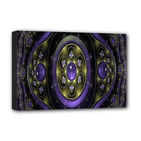 Fractal Sparkling Purple Abstract Deluxe Canvas 18  X 12   by Nexatart