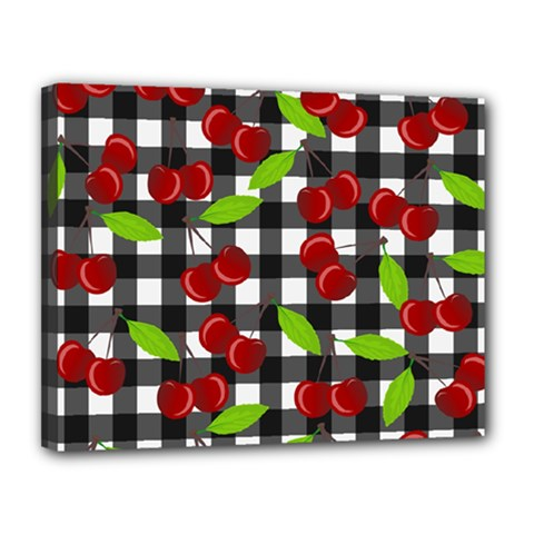 Cherry Kingdom  Canvas 14  X 11  by Valentinaart