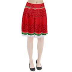 Watermelon Pleated Skirt by Valentinaart