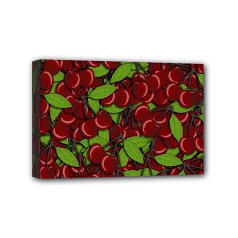 Cherry Pattern Mini Canvas 6  X 4  by Valentinaart