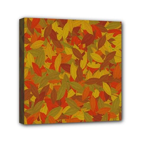 Orange Autumn Mini Canvas 6  X 6  by Valentinaart