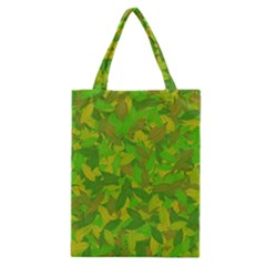 Green Autumn Classic Tote Bag by Valentinaart