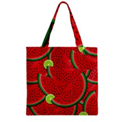 Watermelon Slices Grocery Tote Bag by Valentinaart