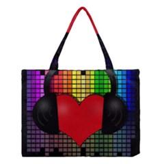 Love Music Medium Tote Bag by Valentinaart