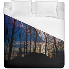 Full Moon Forest Night Darkness Duvet Cover (king Size) by Nexatart