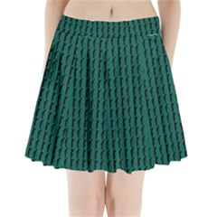 Golf Golfer Background Silhouette Pleated Mini Skirt