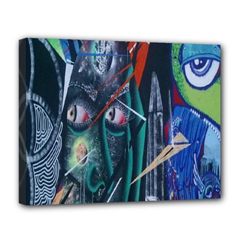 Graffiti Art Urban Design Paint Canvas 14  X 11  by Nexatart