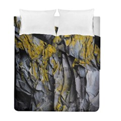 Grey Yellow Stone  Duvet Cover Double Side (Full/ Double Size) by Nexatart