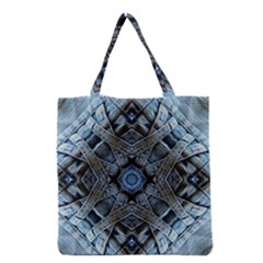 Jeans Background Grocery Tote Bag