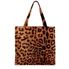 Leopard Print Animal Print Backdrop Zipper Grocery Tote Bag by Nexatart