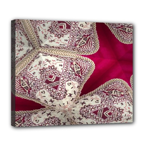 Morocco Motif Pattern Travel Deluxe Canvas 24  X 20   by Nexatart