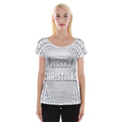 Oints Circle Christmas Merry Women s Cap Sleeve Top by Nexatart