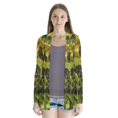 Olive Seamless Camouflage Pattern Cardigans