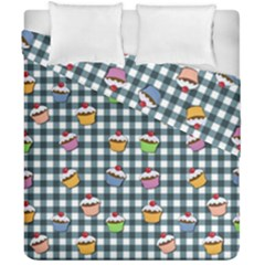 Cupcakes Plaid Pattern Duvet Cover Double Side (california King Size) by Valentinaart
