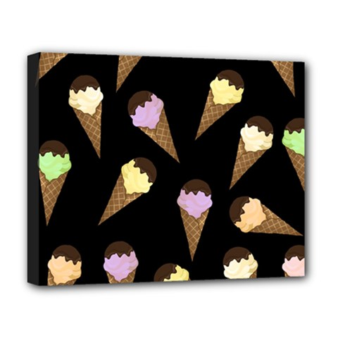 Ice Cream Cute Pattern Deluxe Canvas 20  X 16   by Valentinaart