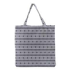 Pattern Grid Squares Texture Grocery Tote Bag by Nexatart