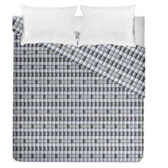 Pattern Grid Squares Texture Duvet Cover Double Side (Queen Size) by Nexatart