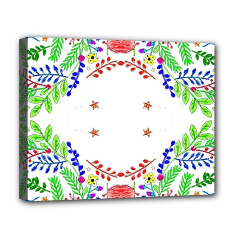 Holiday Festive Background With Space For Writing Deluxe Canvas 20  X 16   by Nexatart