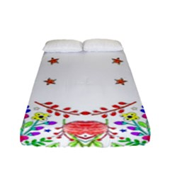 Holiday Festive Background With Space For Writing Fitted Sheet (full/ Double Size) by Nexatart