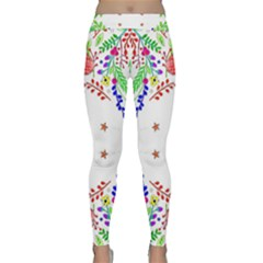 Holiday Festive Background With Space For Writing Classic Yoga Leggings by Nexatart