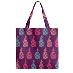 Pineapple Pattern  Zipper Grocery Tote Bag by Nexatart