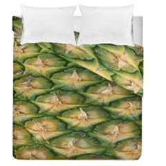 Pineapple Pattern Duvet Cover Double Side (queen Size) by Nexatart