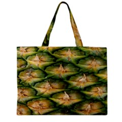 Pineapple Pattern Medium Zipper Tote Bag by Nexatart