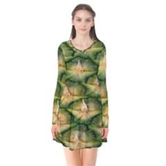 Pineapple Pattern Flare Dress by Nexatart