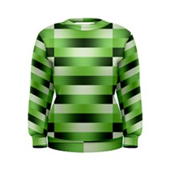 Pinstripes Green Shapes Shades Women s Sweatshirt