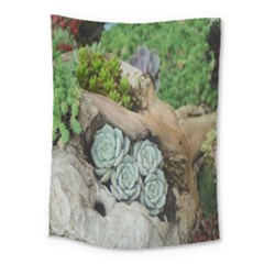 Plant Succulent Plants Flower Wood Medium Tapestry by Nexatart