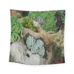Plant Succulent Plants Flower Wood Square Tapestry (small) by Nexatart