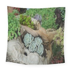 Plant Succulent Plants Flower Wood Square Tapestry (large) by Nexatart